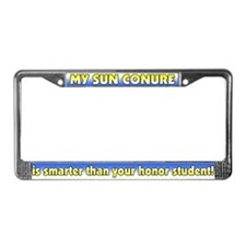 Honor Student Sun Conure License Plate Frame