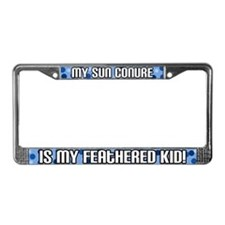 Sun Conure Feathered Kid License Plate Frame