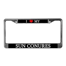 Love Sun Conures License Plate Frame