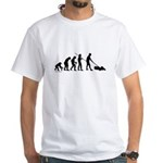 Lawnmower Evolution White T-Shirt