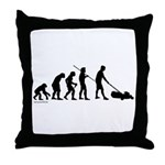 Lawnmower Evolution Throw Pillow