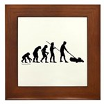 Lawnmower Evolution Framed Tile
