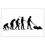 Lawnmower Evolution Large Poster