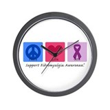 Peace Love Cure FM Wall Clock
