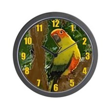 Jungle Sun Conure Wall Clock