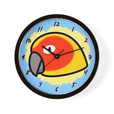 Anime Sun Conure Clock