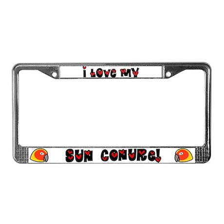 Anime Sun Conure License Plate Frame