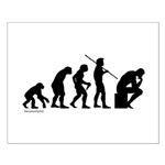 Thinker Evolution Small Poster