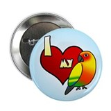 Love Sun Conure Button