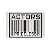Actors Priceless Barcode Rectangle Magnet (100 pac