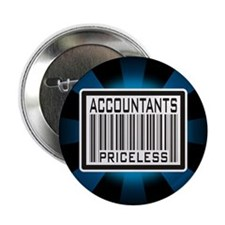 "Accountants Priceless Barcode 2.25"" Button (100 pa"