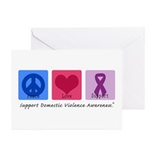 Peace Love DV Greeting Cards (Pk of 10)