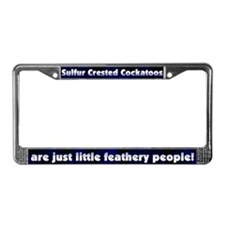 Feathery Ppl Sulfur Crested License Plate Frame