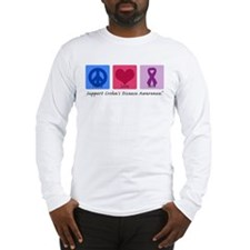 Peace Love Crohn's Long Sleeve T-Shirt