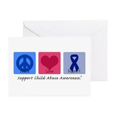 Peace Love Child Abuse Greeting Cards (Pk of 20)