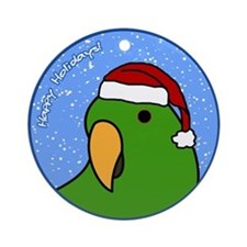 Male Santa Solomon Island Eclectus Ornament