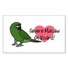 Severe Macaw On Board Decal