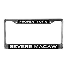 Property of Severe Macaw License Plate Frame
