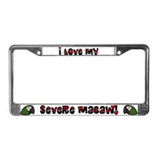Anime Severe Macaw License Plate Frame