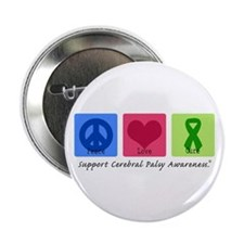 "Peace Love Cure CP 2.25"" Button (10 pack)"