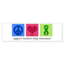 Peace Love Cure CP Bumper Sticker (10 pk)