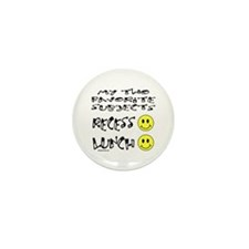 LUNCH AND RECESS Mini Button (10 pack)