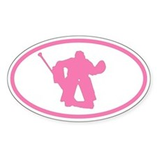 WOMEN'S HOCKEY Goalie Oval Decal