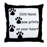 Cat Prints Throw Pillow