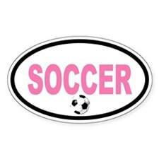 WOMEN'S SOCCER Ball Oval Decal