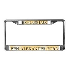 Ben Alexander Ford License Plate Frame
