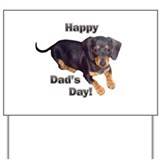 Happy Dad's Day Dachshund Yard Sign