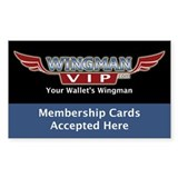 WingmanLaws.com Rectangle Sticker 50 pk)