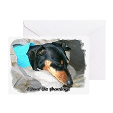 I Dont Do Mornings Doxie Greeting Card