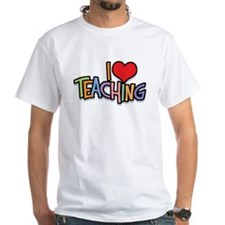 I Love (Heart) Teaching White T-Shirt