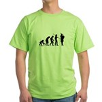 Bagpipe Evolution Green T-Shirt