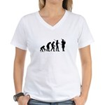Bagpipe Evolution Women's V-Neck T-Shirt