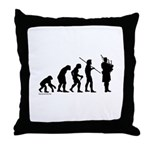 Bagpipe Evolution Throw Pillow