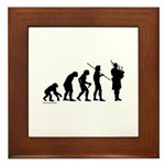 Bagpipe Evolution Framed Tile