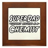 """SuperDad...Chemist"" Framed Tile"