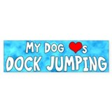 My Dog Loves Dock Jumping Bumper Bumper Sticker