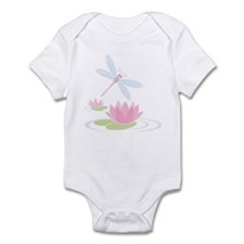 Dragonfly and Lilly Pads Infant Bodysuit