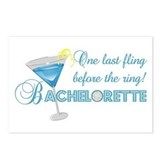 Bachelorette Blue Martini Postcards (Package of 8)
