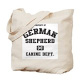 Canine Dept.- German Shepherd Tote Bag