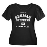 Canine Dept.- German Shepherd Women's Plus Size Sc