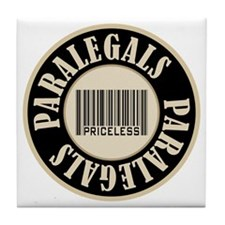 Paralegals Priceless Bar Code Tile Coaster