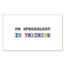 Pr Specialist In Training Rectangle Decal