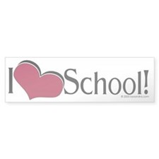 I Love School Bumper Bumper Sticker