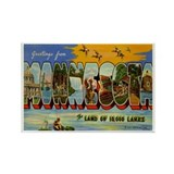 Minnesota MN Rectangle Magnet (100 pack)