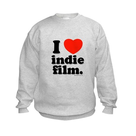 I Love Indie Film Kids Sweatshirt