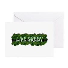 Live Green Bushes Greeting Cards (Pk of 10)